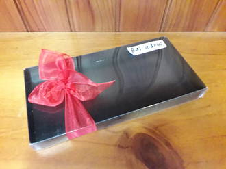 BLACK Card base with clear lid - LIMITED STOCK