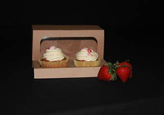 Double cupcake box with window + insert