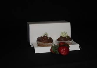 Double Cupcake White Box