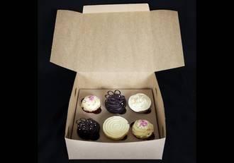 "6 - Cupcake Eco Box 60mm Standard Insert - 10 x 10 x 4"""