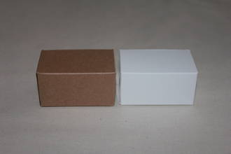2 Piece Chocolate Card Box - Tuck in Top - No Insert