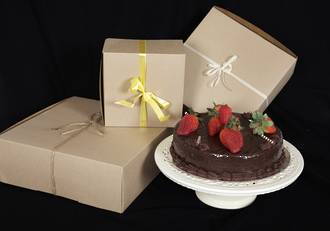 Eco cake box without window