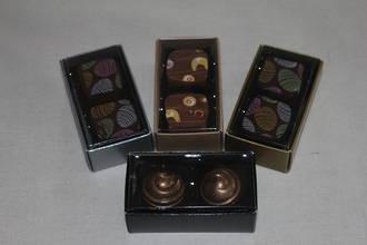 2 Piece Chocolate Box Card Base & PVC Lid + Insert