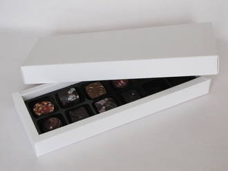 12 Piece Chocolate Box Card Base & Lid+ Insert