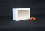 Oblong cake box with window