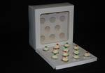 12 - Mini Cupcake White Window Box 40mm Mini Insert - 10 x 10 x 4""