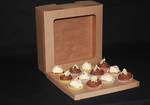 12 - Cupcake Eco Window Box 60mm Standard Insert - 12 x 12 x 4""
