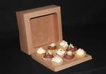 "Cake box 10 x 4"" with window + insert"