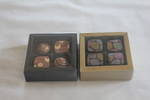 4 Piece Chocolate Box Card Base & PVC Lid + Insert